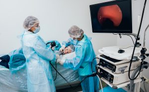 Doctor holding an Endoscope before Gastroscopy procedure in Melbourne